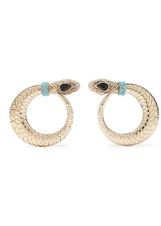 Etro Gold-tone Crystal Clip Earrings