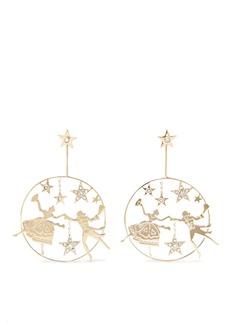 Etro Gold-tone Crystal Earrings