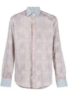 Etro graphic print button-front shirt