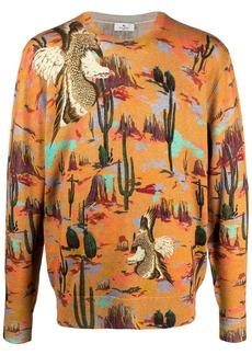 Etro graphic-print wool jumper