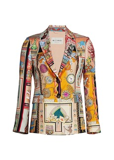 Etro Heritage Collage Silk Jacket