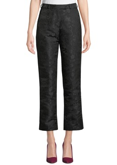 Etro High-Rise Straight-Leg Jacquard Pants