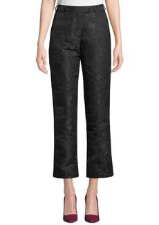 Etro High-Rise Straight-Leg Jacquard Pants