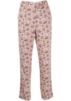 Etro high-rise straight leg trousers