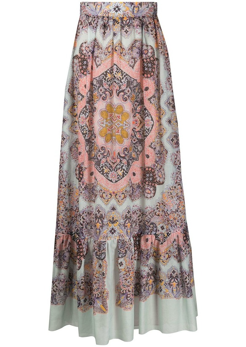 Etro high-waisted flared maxi skirt
