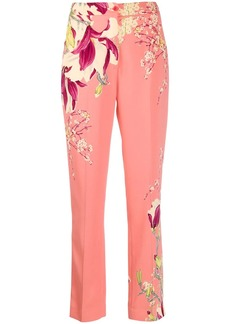 Etro high waisted floral print trousers