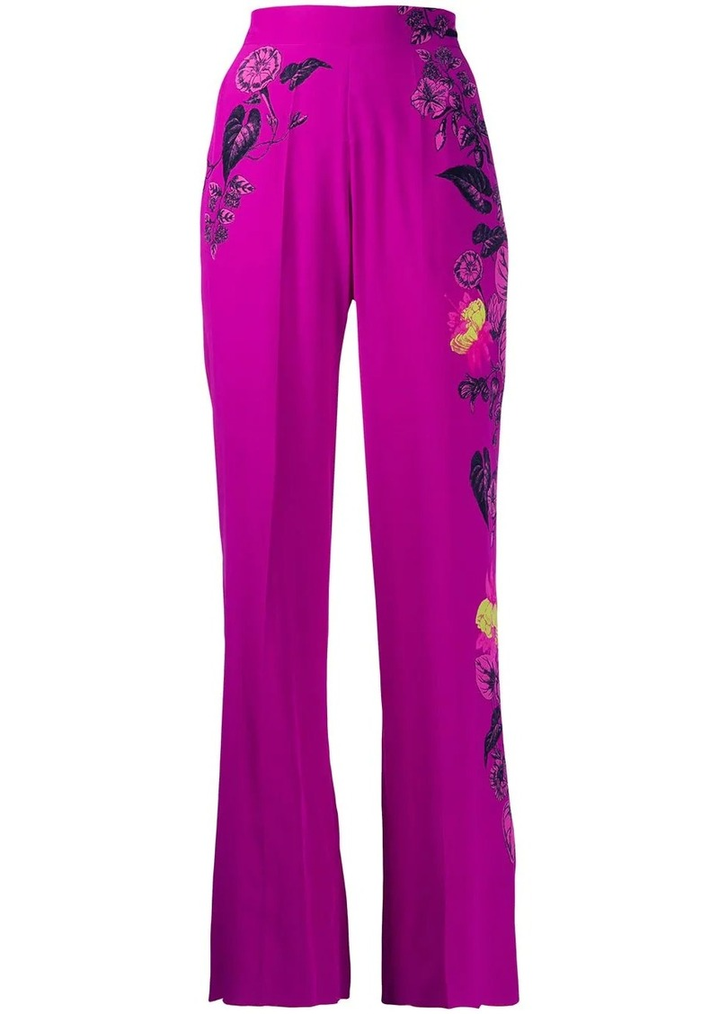 Etro high-waisted floral wide leg trousers