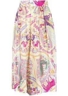 Etro high-waisted pleated skirt