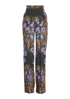 Etro High Waisted Printed Silk Pants