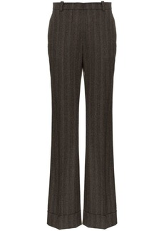 Etro high waisted striped wool trousers