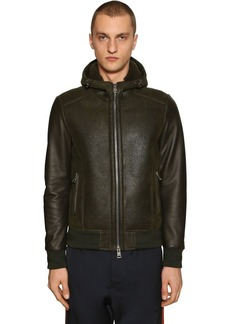 Etro Hooded Shearling Bomber Jacket