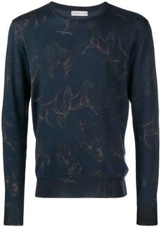Etro horse print sweater
