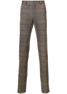 Etro houndstooth check trousers