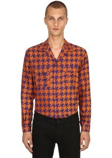 Etro Houndstooth Cotton Jacquard Pajama Shirt