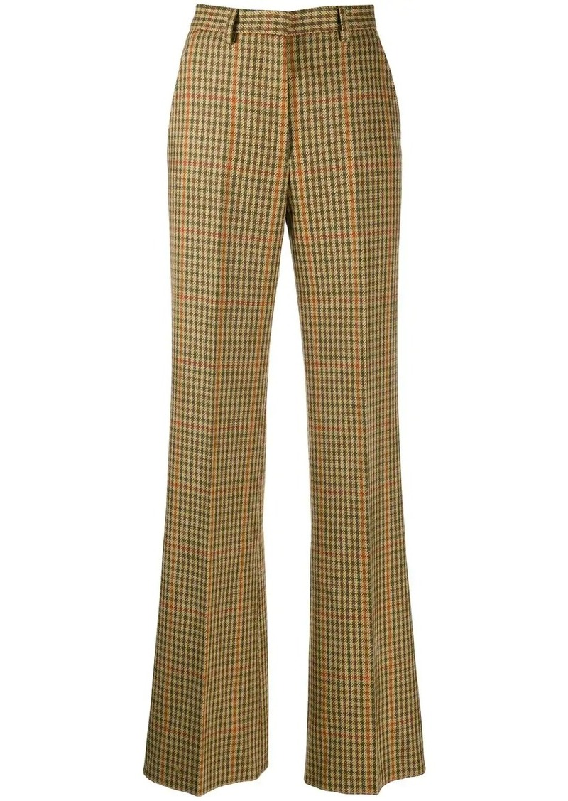 Etro houndstooth print trousers