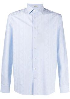 Etro ikat striped cotton shirt