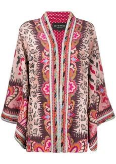 Etro intarsia knit mixed-pattern cardi-coat