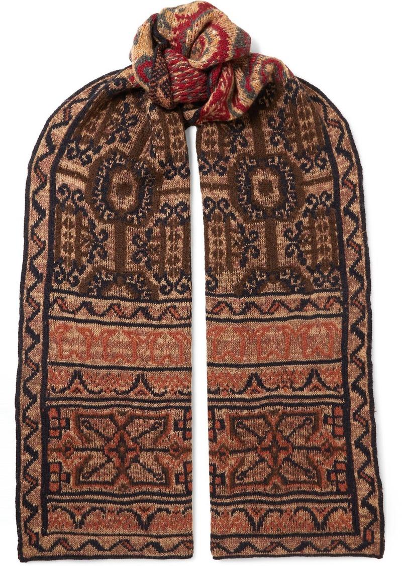 Etro Intarsia Wool-blend Scarf