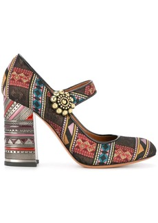 Etro jacquard mary jane pumps