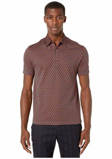Etro Jersey Geometric Print Polo