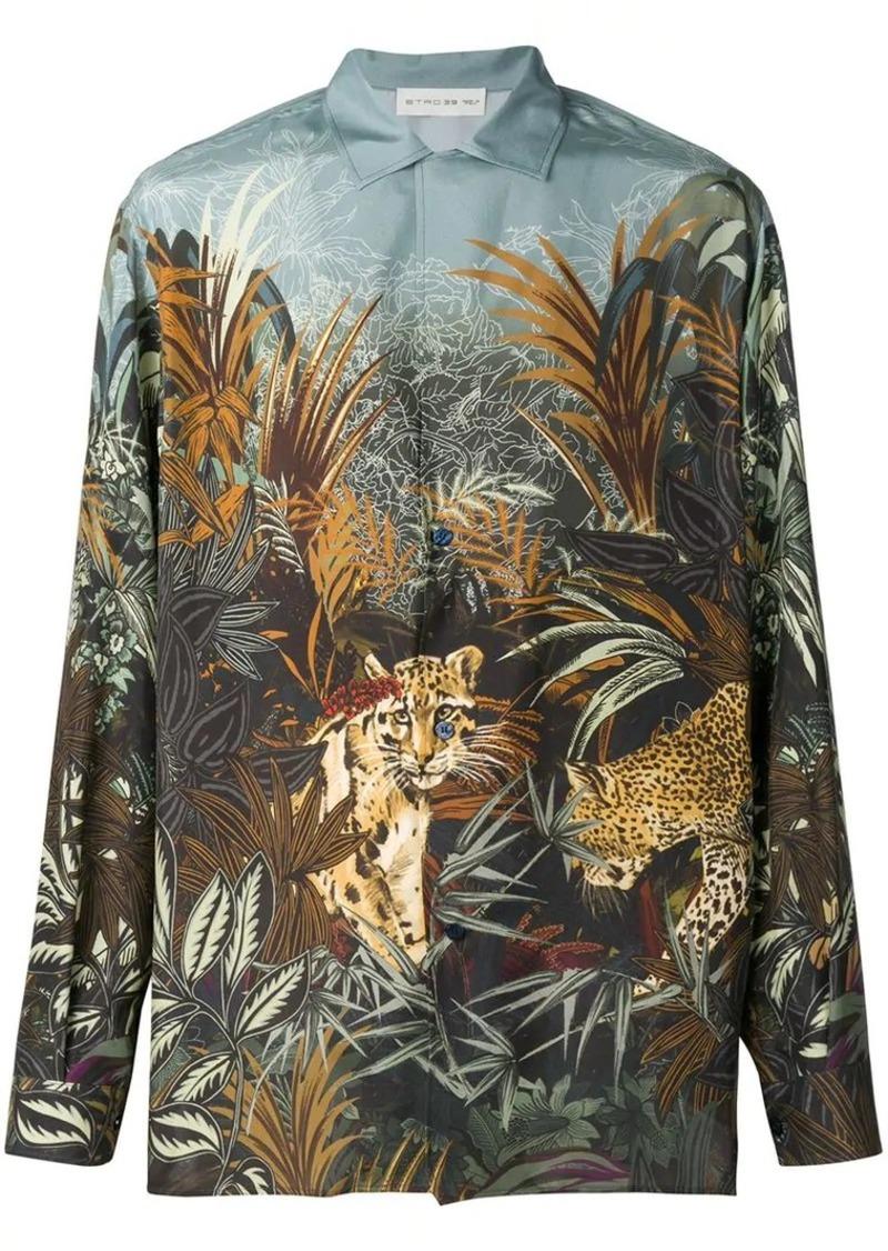 Etro jungle-print shirt