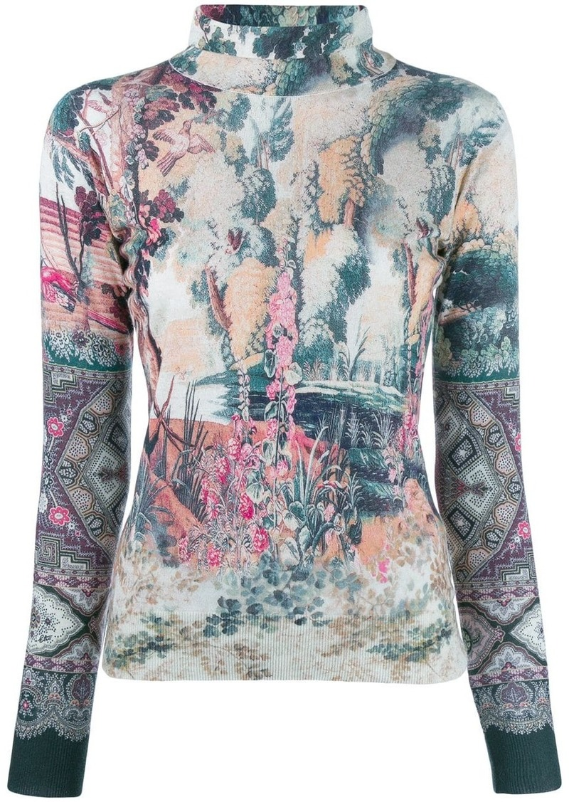 Etro knit printed top