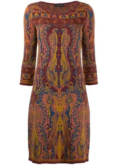 Etro knitted paisley dress