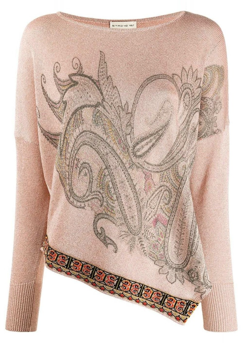 Etro knitted paisley pattern top