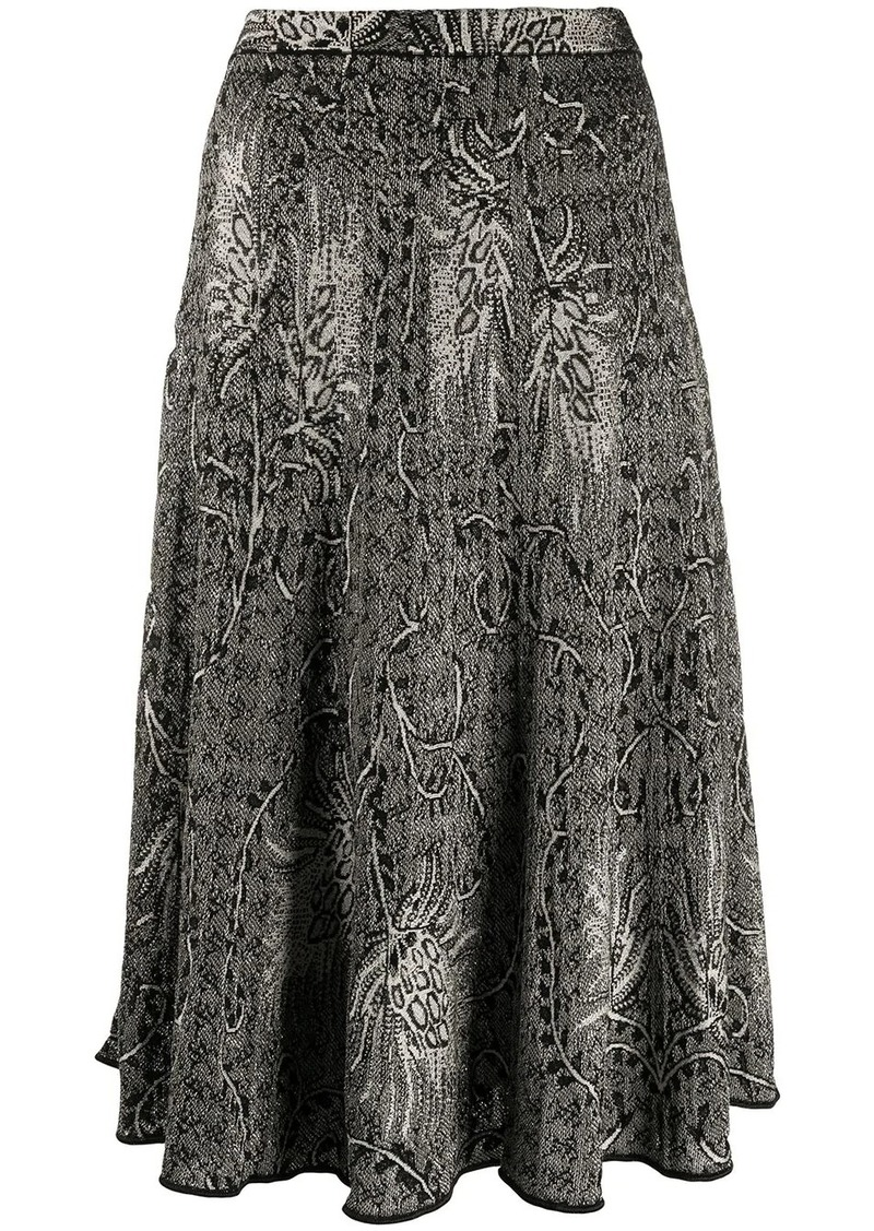 Etro knitted straight fit skirt