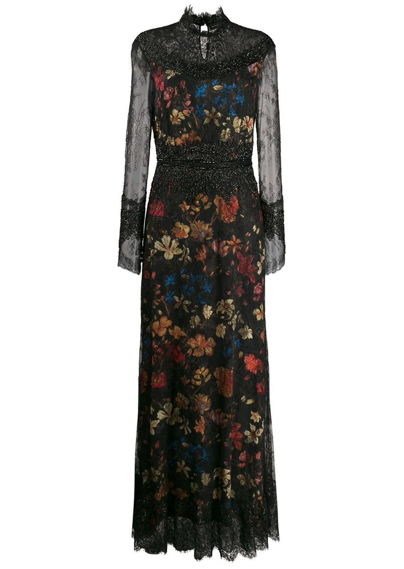 Etro lace insert dress