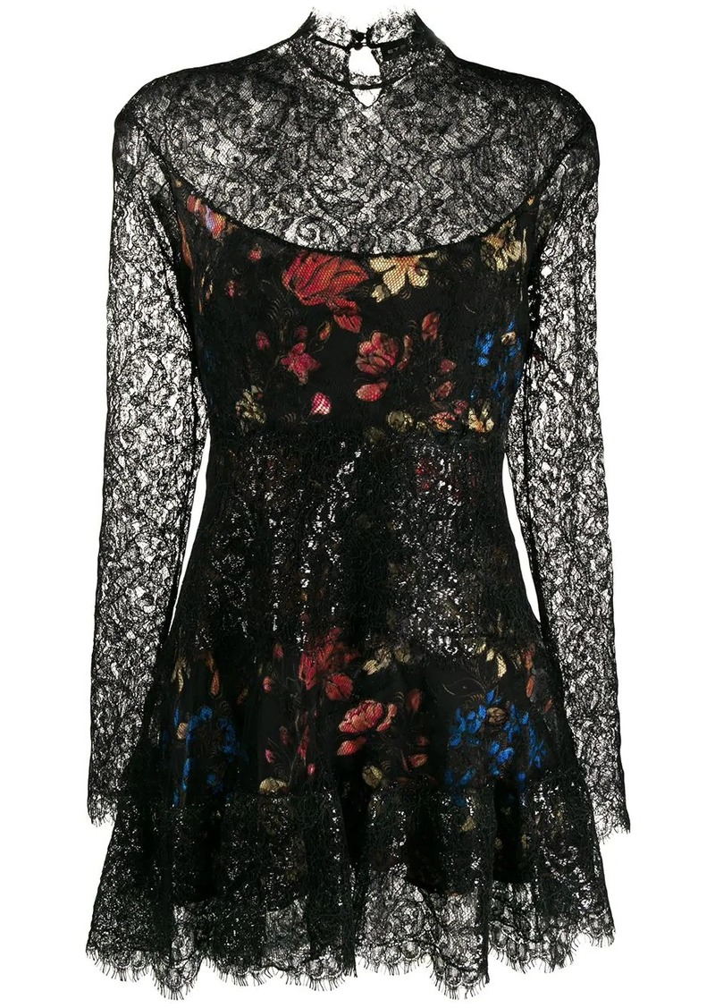 Etro lace panel dress