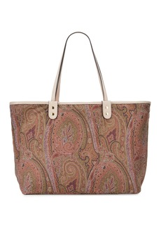 Etro Leather & Paisley Reversible Tote Bag