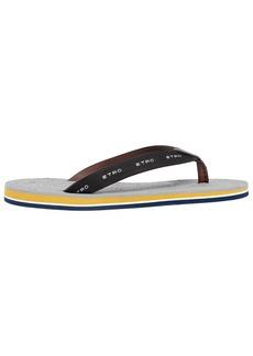 Etro Leather Flip Flops W/ Paisley Insole