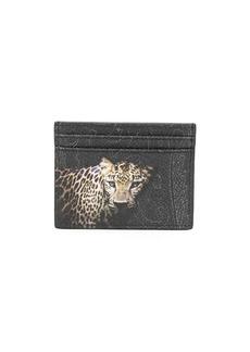 Etro leopard-print paisley cardholder
