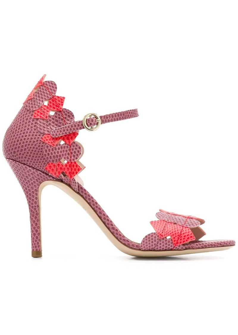 Etro lizard print stiletto sandals