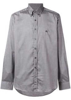 Etro logo embroidered button down shirt