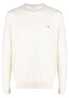 Etro logo-embroidered cotton jumper