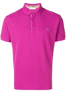 Etro logo embroidered polo top