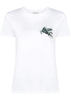 Etro logo embroidered T-shirt