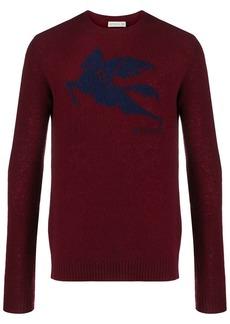 Etro logo-jacquard sweater