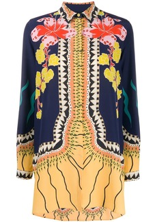 Etro long sleeve floral pattern blouse