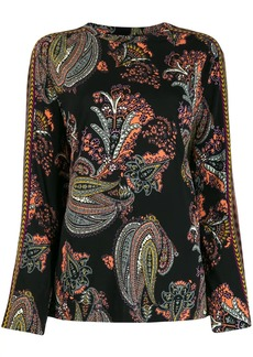 Etro long sleeved paisley print blouse