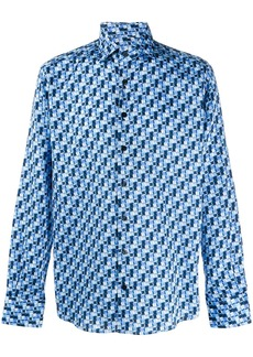 Etro long sleeved printed shirt