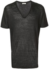 Etro longline V-neck T-shirt