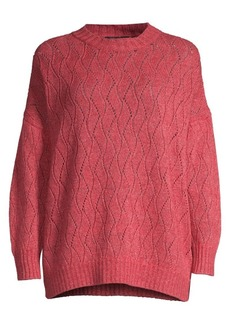 Etro Lurex Cabled Knit Pullover