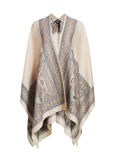 Etro Mantella Jacquard Paisley Kimono Cardigan