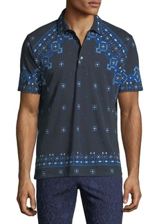Etro Men's Bandana Pattern Polo Shirt