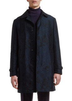 Etro Men's Floral Jacquard Trench Coat