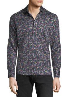 Etro Men's Floral-Print Sport Shirt