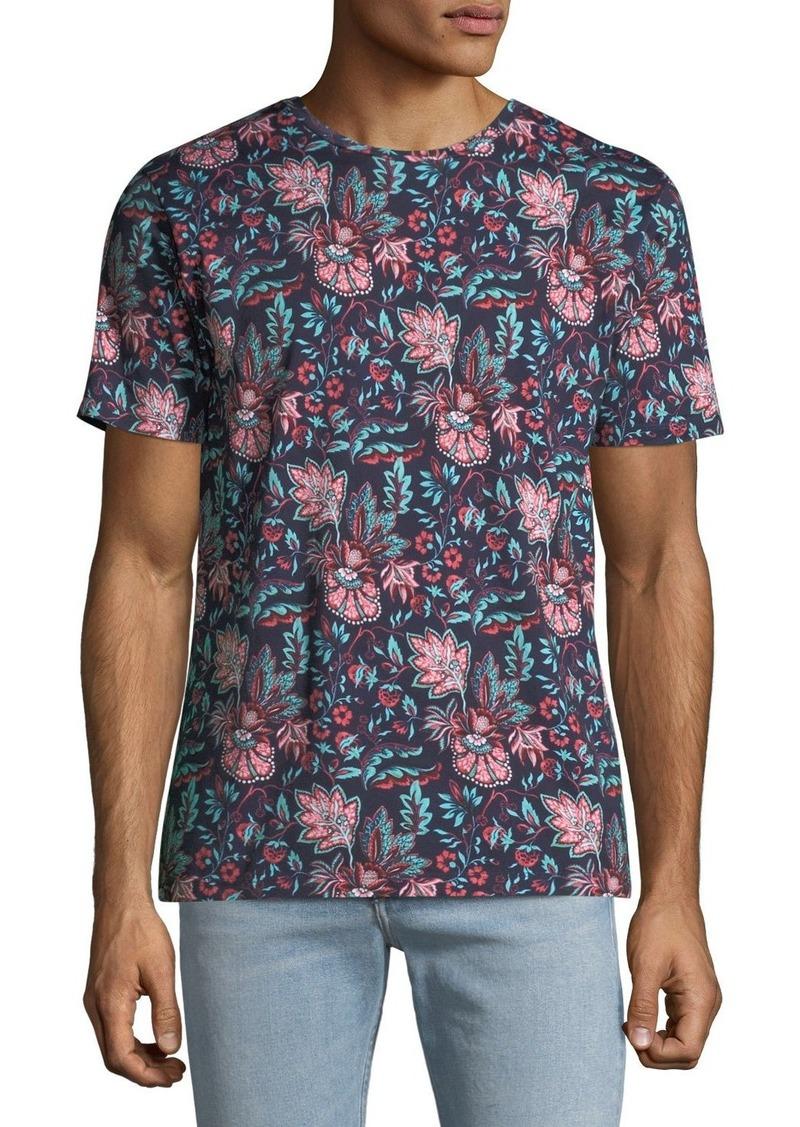 Etro Men's Floral Print T-Shirt